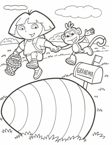 Dora Coloring Sheets Archives
