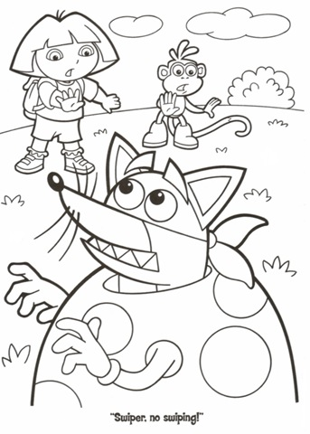Dora Coloring Pages Ideas - Whitesbelfast | 480x343