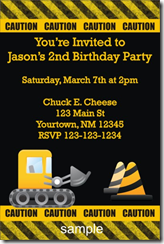 construction birthday party invitation Archives