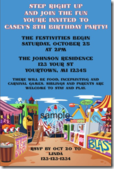PersonalizedPartyInvites Offers Carnival Theme Invitations