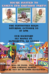 carnival theme invitations