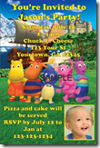 backyardigans birthday party invitations