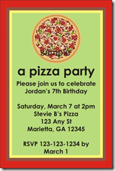 printable pizza party invitation Archives -
