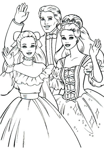 barbie princess coloring. Barbie Printable Coloring