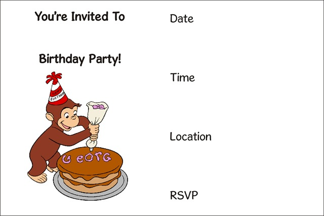 FREE Printable Birthday Party Invitations – Hannah Montana, Dora,