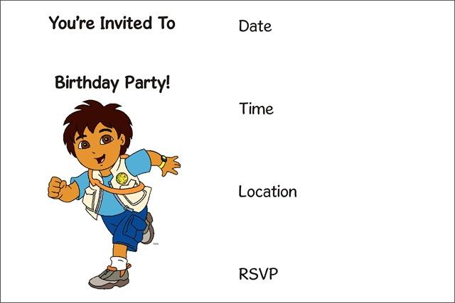 Curious George Free Printable Invitation Diego