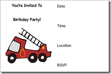 firetruck free printable invitation