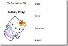 hello kitty free printable invitation