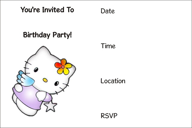 free printable birthday party invitations archives -, Invitation templates
