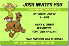 scooby doo birthday party invitation