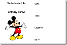mickey mouse free printable invitation