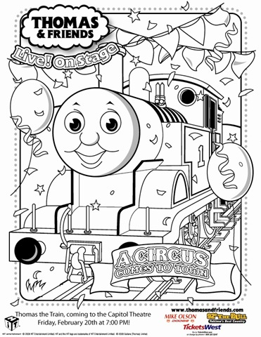 thomas coloring pages Archives