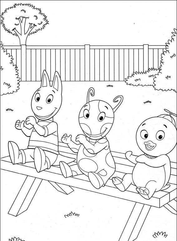 The Backyardigans Coloring Page - Free The Backyardigans Coloring Pages :  ColoringPages101.com | 770x567