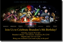 Free Star Wars Birthday Invitation Templates ~ Custom star wars invitations archives