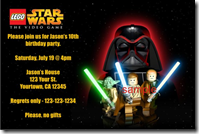 Personalized Star Wars Invitations Archives