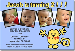 wubbzy birthday party invitations