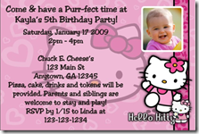 custom hello kitty invitations Archives