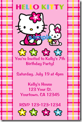 Hello Kitty Archives - Free hello kitty birthday invitation templates