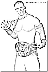 wwe wrestling printable coloring pages john cena rey mysterio triple h randy orton