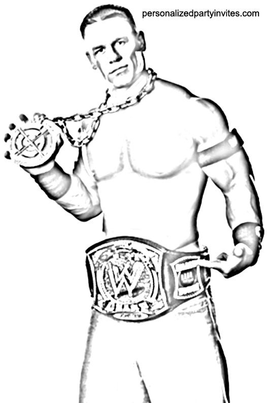 printable john cena coloring pages - photo#3
