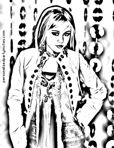 Hannah Montana Miley Cyrus Coloring Page | H & M Coloring Pages | 480x371