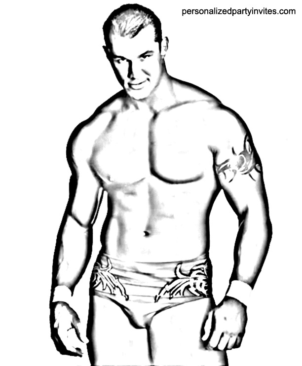 WWE Wrestling Printable Coloring Pages – John Cena, Rey Mysterio