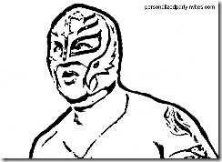 rey mysterio coloring page