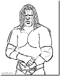 triple h coloring page