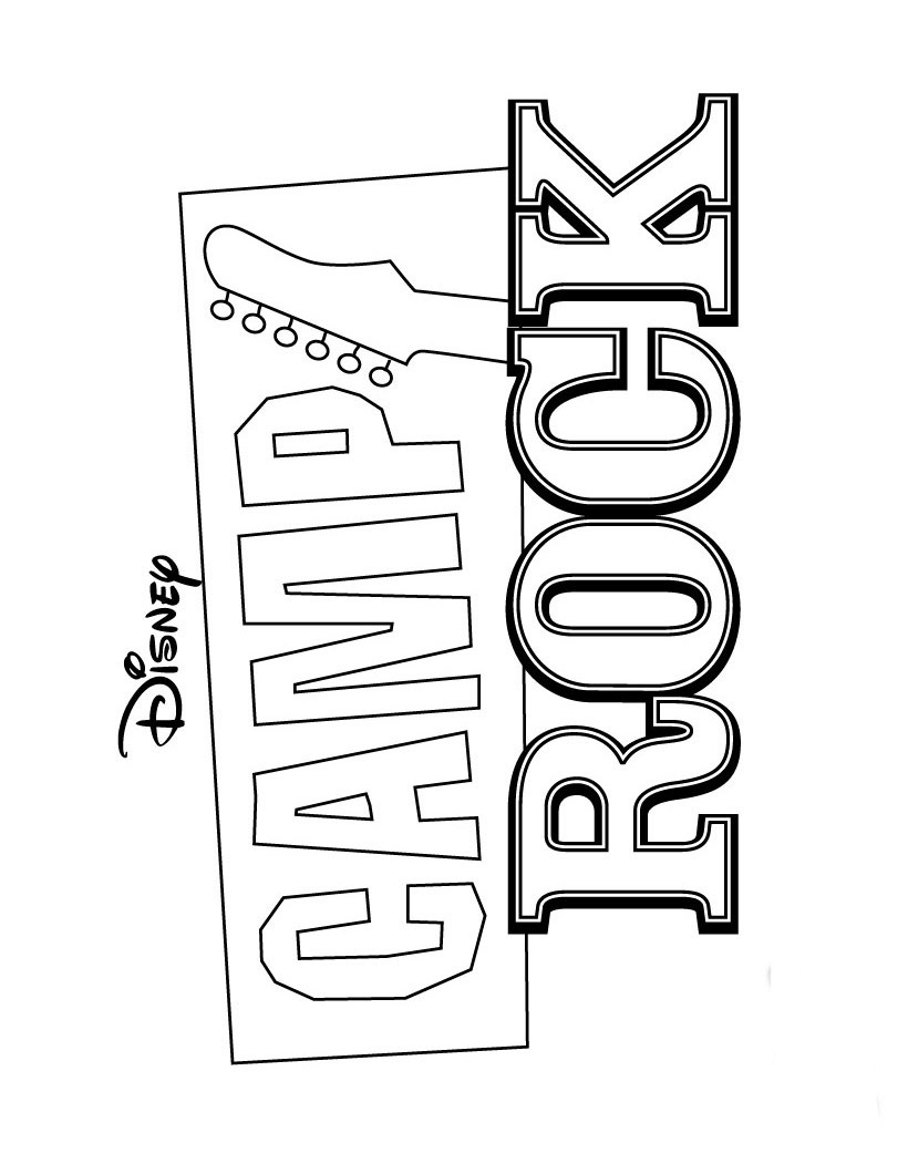 Camp Rock Free Printable Coloring Pages Sheets Jonas