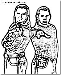 wwe hardy boys coloring pages