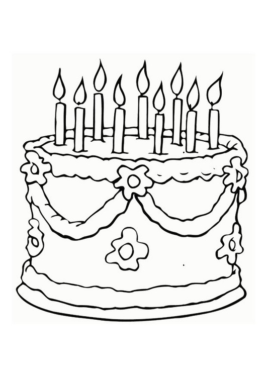 Free Coloring Pages Of For Birthday Invitation