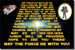 Image We Added A New Star Wars Theme Birthday Party Invitation Template