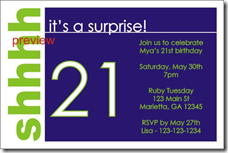 surprise party invite