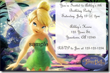 Girly invitations archives personalizedpartyinvites has some really cute tinkerbell birthday party invitation templates stopboris Choice Image