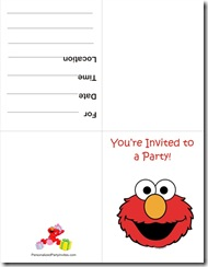 elmo free printable invitation