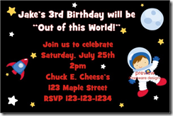 PersonalizedPartyInvites Added An Adorable Space Theme Birthday Party Invitation This Is Out Of World Cute And Features A