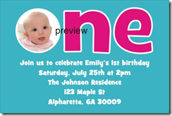 1st first birthday invitation