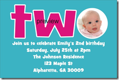 2nd birthday invitation template Archives