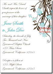 atlanta wedding invitation