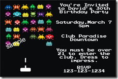 80s theme invitation