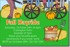 fall hayride invitation autumn