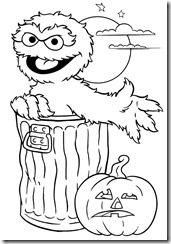 hallloween coloring page sheet