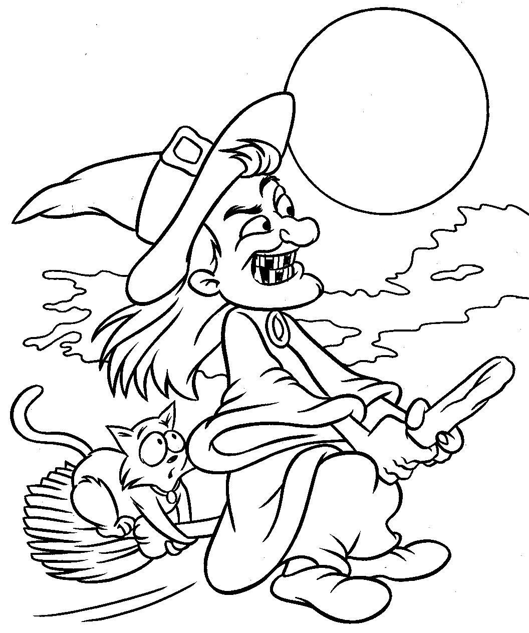 Colouring in sheets for halloween - Hallloween Coloring Page Sheet