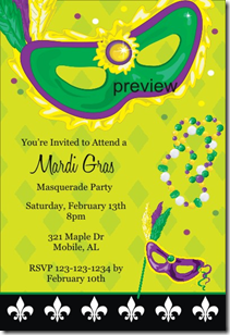mardi gras invitations