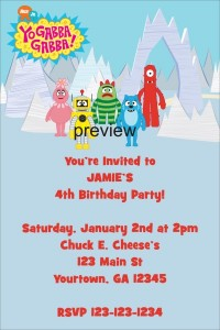 Yo Gabba Gabba Birthday Party Invitation