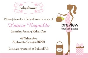 mod chic baby shower invitation