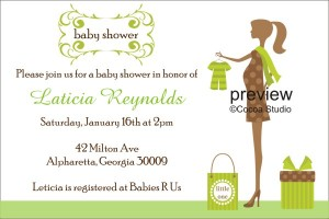 Modern chic baby shower invitation template