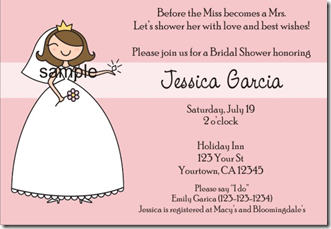 Bridal Shower Invitations – Personalized Custom