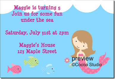 New Mermaid Birthday Party Invitation Template