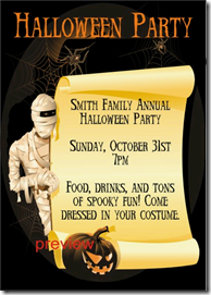 halloween party invitation templates Archives -